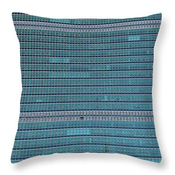 Throw Pillow featuring the photograph United Nations Secretariat Building by Mitch Cat