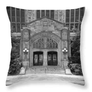 University Of Michigan Law Quad Throw Pillow by Phil Perkins