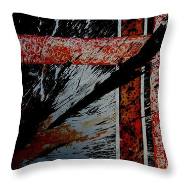 Fencing-2 Throw Pillow