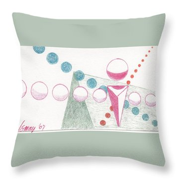 Throw Pillow featuring the drawing Still Motion by Rod Ismay