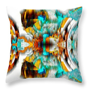 Throw Pillow featuring the digital art Untitled Series 992.042212 -c by Kris Haas