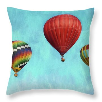 Throw Pillow featuring the photograph Up Up And Away 2 by Benanne Stiens