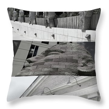 Throw Pillow featuring the photograph Uptown Library by Susan Stone