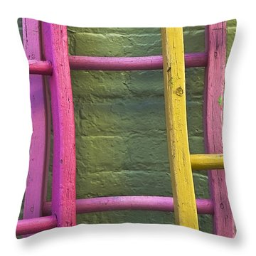 Upwardly Mobile Throw Pillow