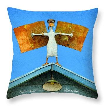 Urban Icarus... Throw Pillow