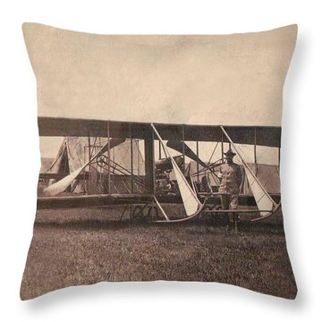 Us Army Wright Model B-flyer 1912 Throw Pillow
