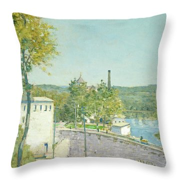 U.s. Thread Company Mills, Willimantic, Connecticut Throw Pillow