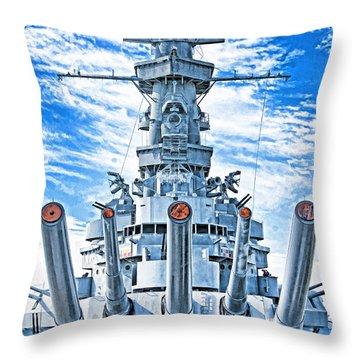 Uss Alabama Throw Pillow by Dennis Cox WorldViews