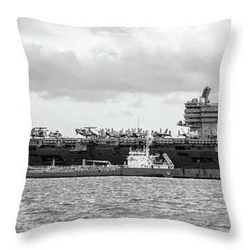 Uss George H.w Bush. Throw Pillow