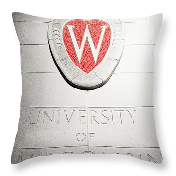 Uw Crest Throw Pillow