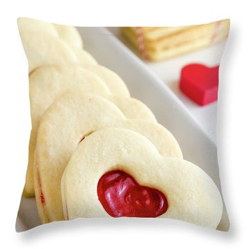 Throw Pillow featuring the photograph Valentines Day Treats by Teri Virbickis
