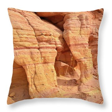Throw Pillow featuring the photograph Valley Of Fire Wall Arches by Ray Mathis