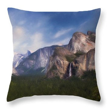 Throw Pillow featuring the photograph Valley View by Lana Trussell