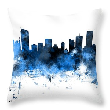 Vancouver Canada Skyline Panoramic Throw Pillow