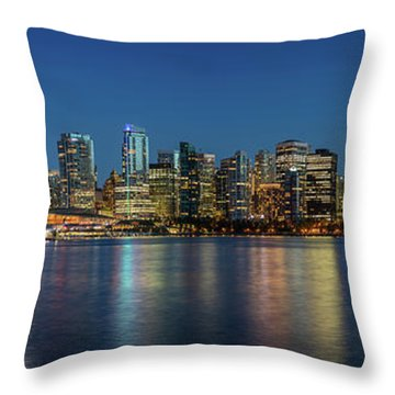 Throw Pillow featuring the photograph Vancouver City Twilight by Pierre Leclerc Photography
