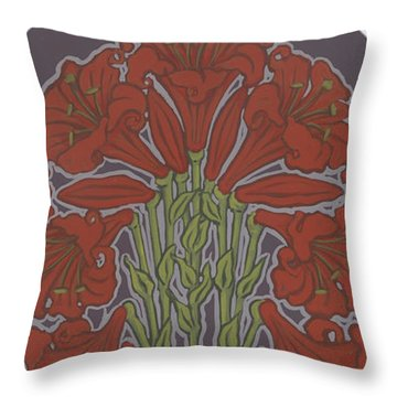 Throw Pillow featuring the painting Variation On Our Lady Of Sorrows 236 by William Hart McNichols
