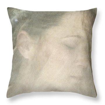 Veiled Princess Throw Pillow