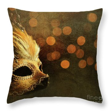 Venetian Mask Throw Pillow