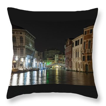 Romantic Venice  Throw Pillow by Silvia Bruno