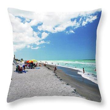 Throw Pillow featuring the photograph Venice Beach by Gary Wonning