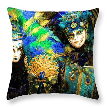 Venice Carnival I '17 Throw Pillow