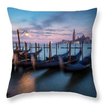 Throw Pillow featuring the photograph Venice Dawn by Brian Jannsen
