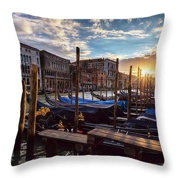 Venice Throw Pillow by Evgeni Dinev