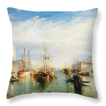 Venice, From The Porch Of Madonna Della Salute Throw Pillow
