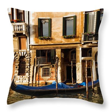 Venice Morning Throw Pillow