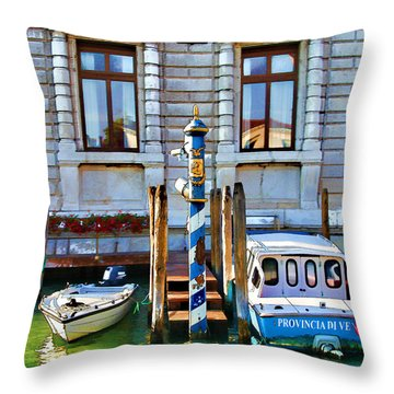 Venice Untitled Throw Pillow