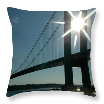 Verrazano Bridge Starburst Throw Pillow