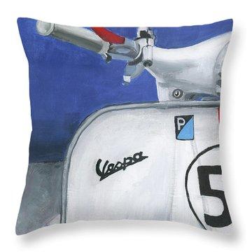 Vespa 53 Throw Pillow