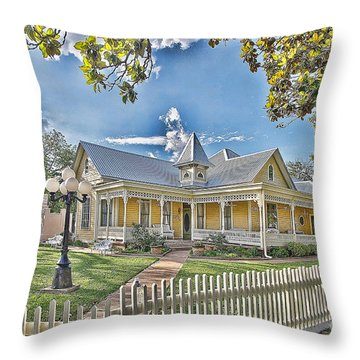 Victorian Sunday House Throw Pillow