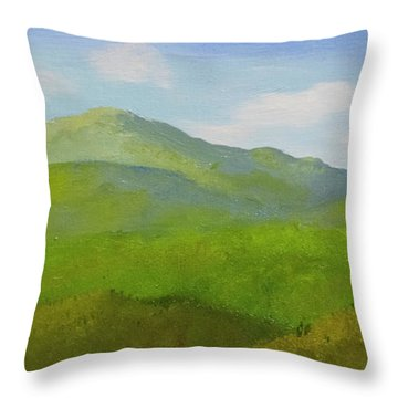 Throw Pillow featuring the painting View From The Bluffs by Frank Wilson