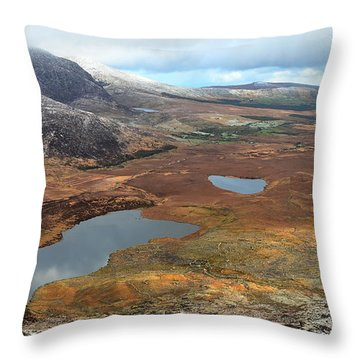 Throw Pillow featuring the photograph View From The Connor Pass by Barbara Walsh