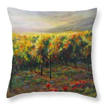 Vineyard Glow Throw Pillow