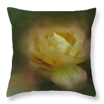 Throw Pillow featuring the photograph Vintage October Rose  by Richard Cummings