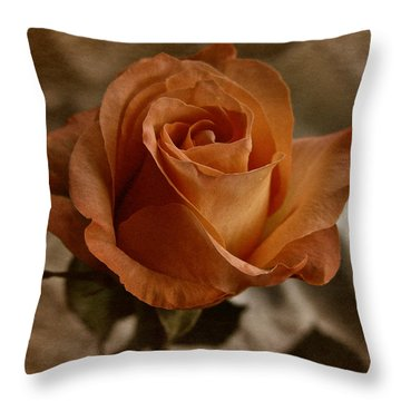 Throw Pillow featuring the photograph Vintage Orange Rose by Richard Cummings