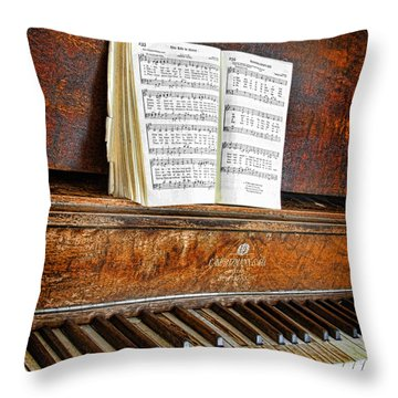 Vintage Piano Throw Pillow