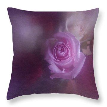 Vintage Pink Rose Feb 2017 Throw Pillow by Richard Cummings