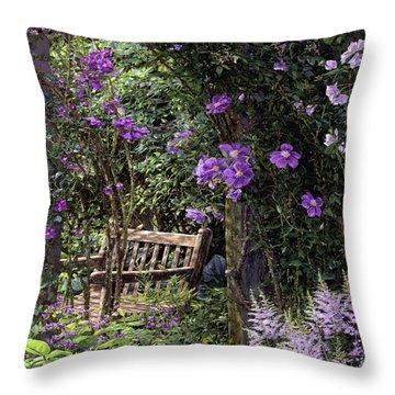Violet Garden Respite Throw Pillow