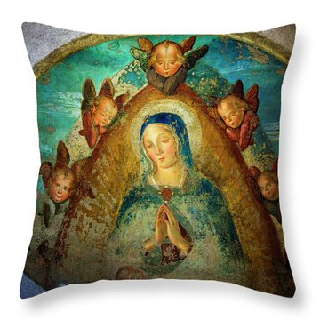 Throw Pillow featuring the photograph Virgin Mary by Craig J Satterlee
