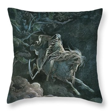 Vision Of Death Throw Pillow by Granger
