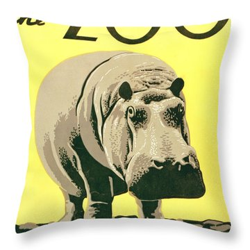 Visit The Zoo Throw Pillow by Unknown