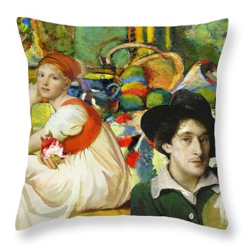 Visiting Matisse Throw Pillow