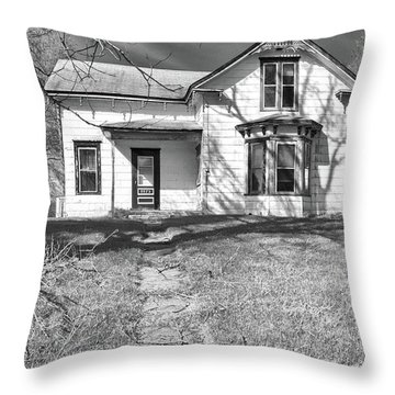 Visiting The Old Homestead Throw Pillow