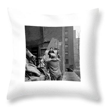 Vivian Maier Self Portrait Probably Taken In Chicago Illinois 1955 Throw Pillow