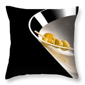 Vodka Martini Throw Pillow
