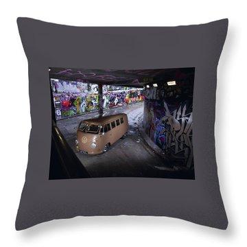 Volkswagen Microbus Throw Pillow