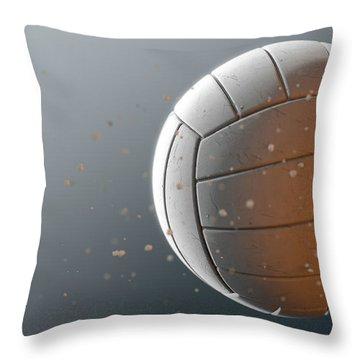 Volleyball In Flight Throw Pillow